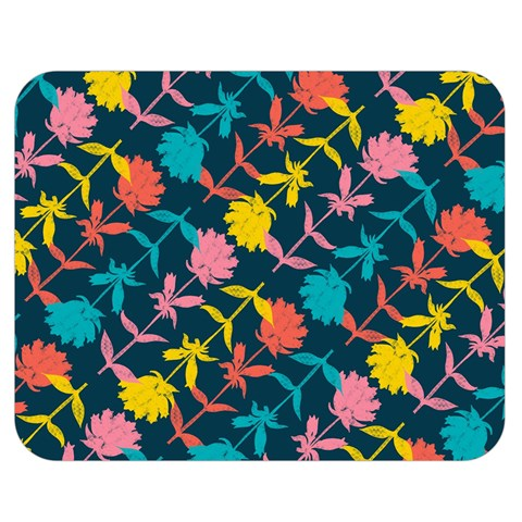 Colorful Floral Pattern Double Sided Flano Blanket (Medium)