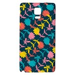 Colorful Floral Pattern Galaxy Note 4 Back Case Front