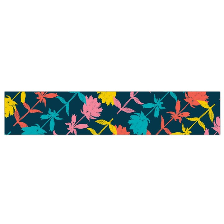 Colorful Floral Pattern Flano Scarf (Small)