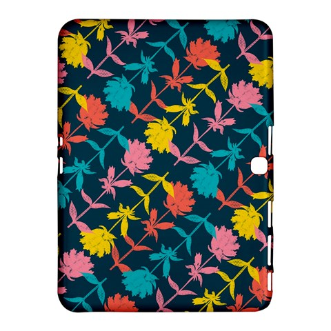Colorful Floral Pattern Samsung Galaxy Tab 4 (10.1 ) Hardshell Case