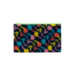Colorful Floral Pattern Cosmetic Bag (XS) Front