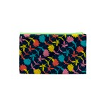 Colorful Floral Pattern Cosmetic Bag (XS) Back