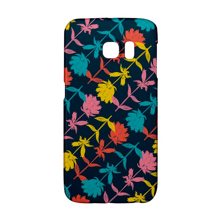 Colorful Floral Pattern Galaxy S6 Edge