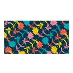 Colorful Floral Pattern Satin Wrap Front