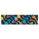 Colorful Floral Pattern Satin Scarf (Oblong) Front