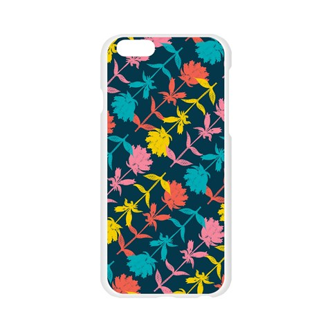 Colorful Floral Pattern Apple Seamless iPhone 6/6S Case (Transparent)