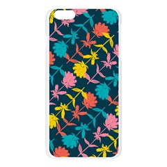 Colorful Floral Pattern Apple Seamless iPhone 6 Plus/6S Plus Case (Transparent)