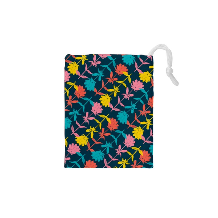 Colorful Floral Pattern Drawstring Pouches (XS)