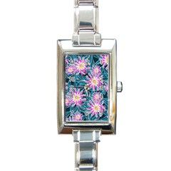Whimsical Garden Rectangle Italian Charm Watch