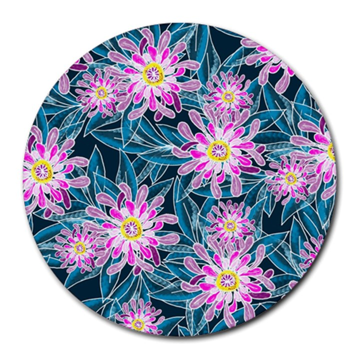 Whimsical Garden Round Mousepads