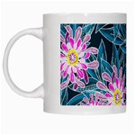 Whimsical Garden White Mugs Left