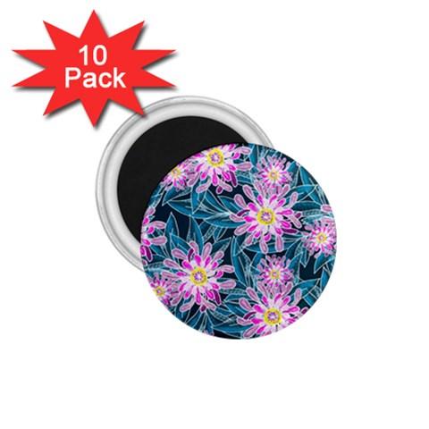 Whimsical Garden 1.75  Magnets (10 pack)