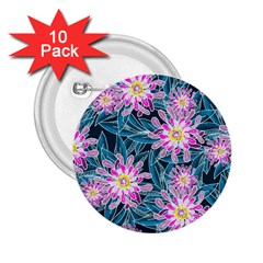 Whimsical Garden 2 25  Buttons (10 Pack)