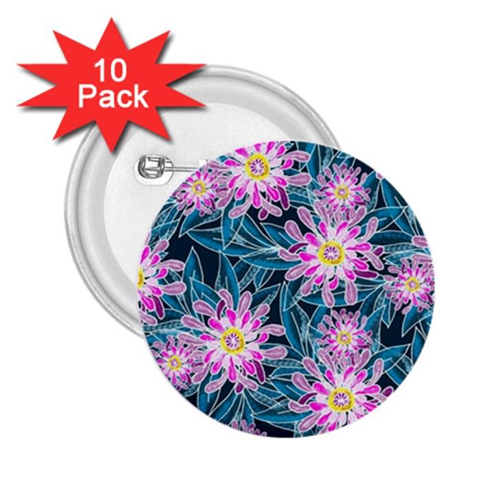 Whimsical Garden 2.25  Buttons (10 pack)