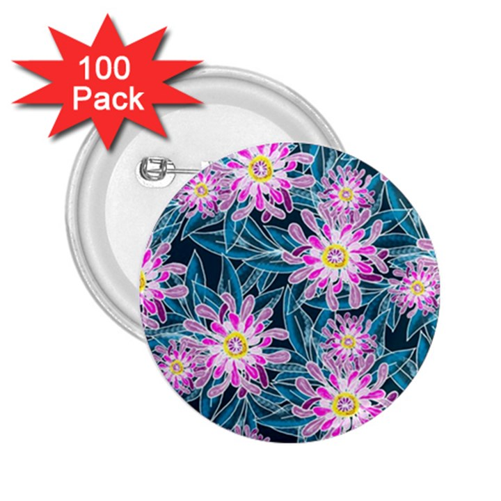 Whimsical Garden 2.25  Buttons (100 pack)