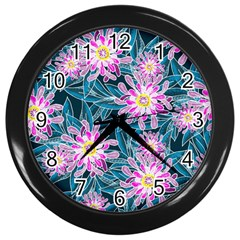 Whimsical Garden Wall Clocks (black)