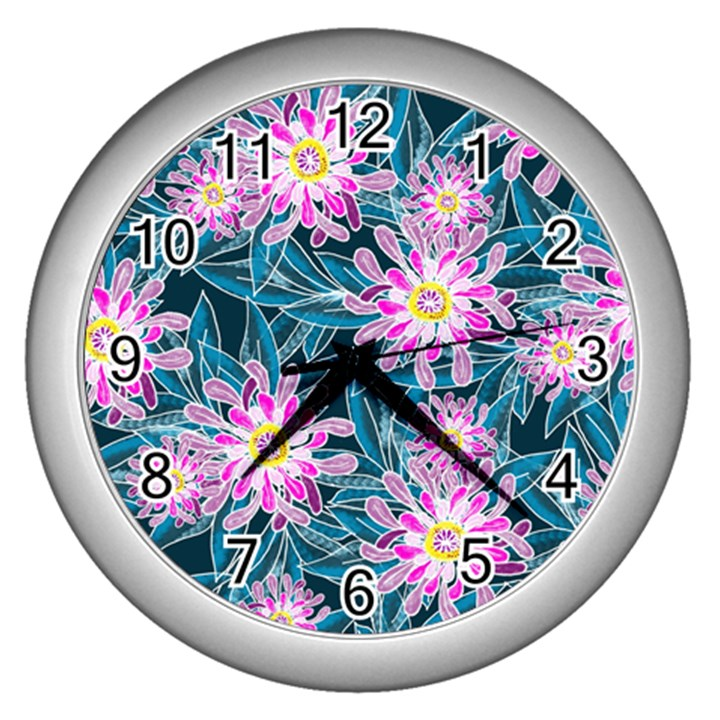 Whimsical Garden Wall Clocks (Silver)