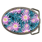 Whimsical Garden Belt Buckles Front
