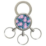 Whimsical Garden 3-Ring Key Chains Front