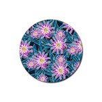 Whimsical Garden Rubber Round Coaster (4 pack)  Front