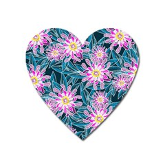 Whimsical Garden Heart Magnet