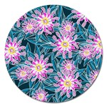 Whimsical Garden Magnet 5  (Round) Front