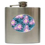 Whimsical Garden Hip Flask (6 oz) Front