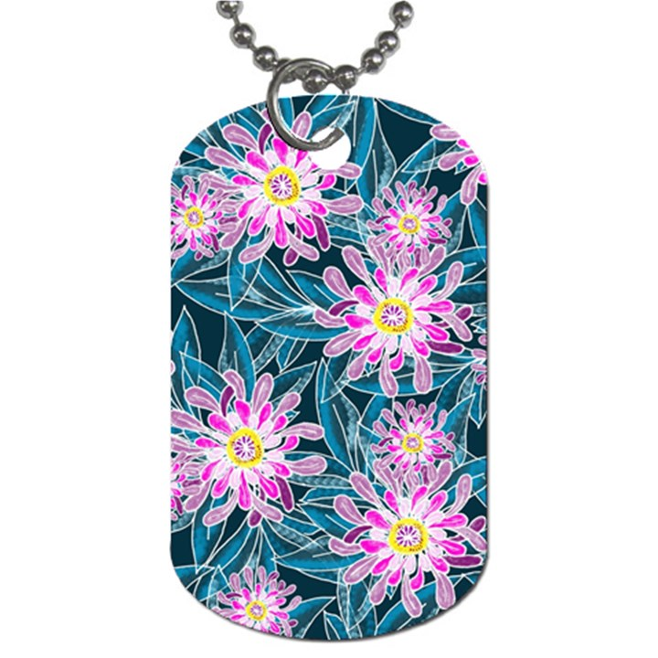 Whimsical Garden Dog Tag (Two Sides)