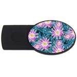 Whimsical Garden USB Flash Drive Oval (1 GB)  Front