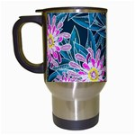 Whimsical Garden Travel Mugs (White) Left