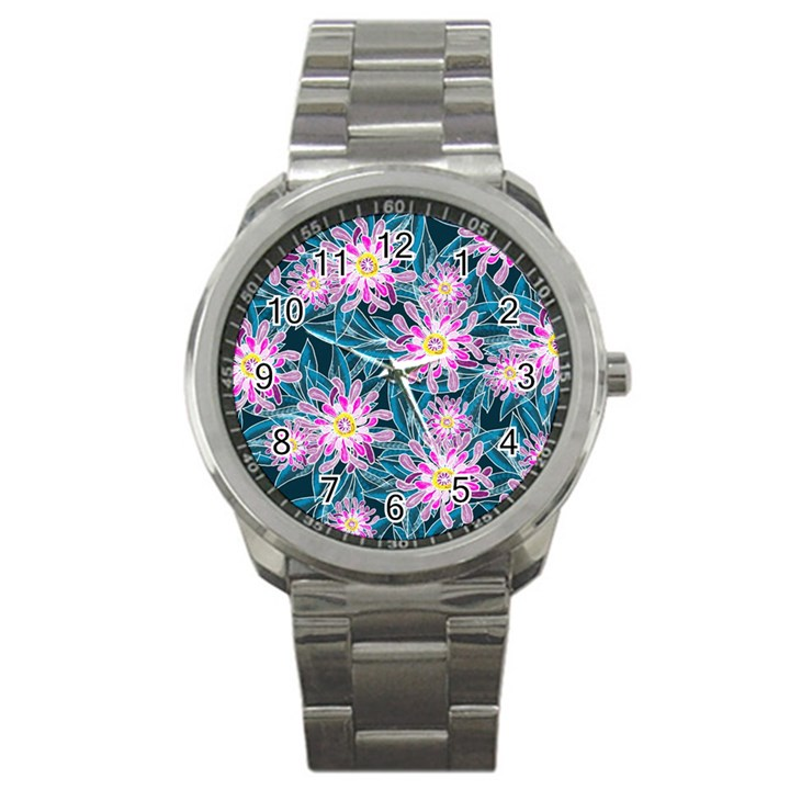 Whimsical Garden Sport Metal Watch