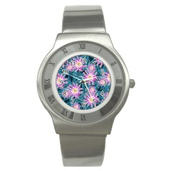 Whimsical Garden Stainless Steel Watch