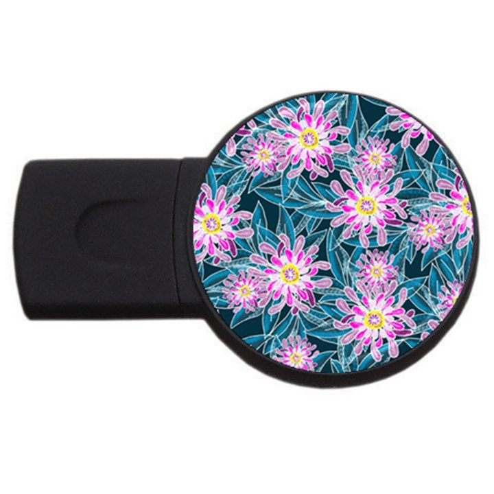 Whimsical Garden USB Flash Drive Round (4 GB)