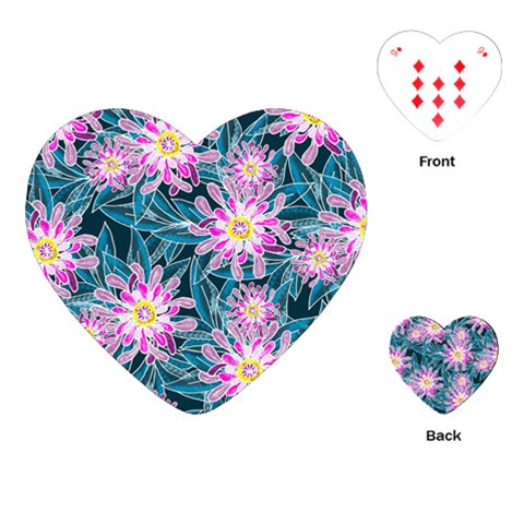 Whimsical Garden Playing Cards (Heart)