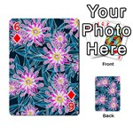 Whimsical Garden Playing Cards 54 Designs  Front - Diamond6