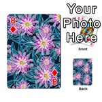Whimsical Garden Playing Cards 54 Designs  Front - Diamond8