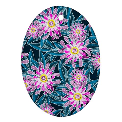 Whimsical Garden Oval Ornament (Two Sides)