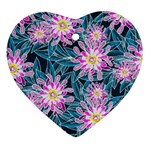 Whimsical Garden Heart Ornament (2 Sides) Front