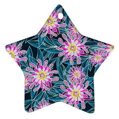 Whimsical Garden Star Ornament (Two Sides)