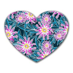 Whimsical Garden Heart Mousepads
