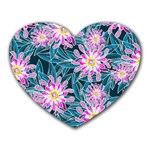 Whimsical Garden Heart Mousepads Front
