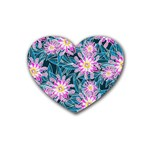 Whimsical Garden Rubber Coaster (Heart)  Front