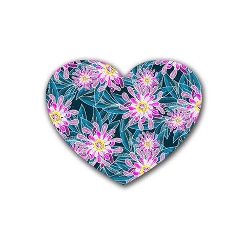 Whimsical Garden Heart Coaster (4 pack)