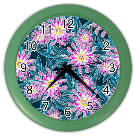 Whimsical Garden Color Wall Clocks