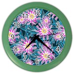 Whimsical Garden Color Wall Clocks Front