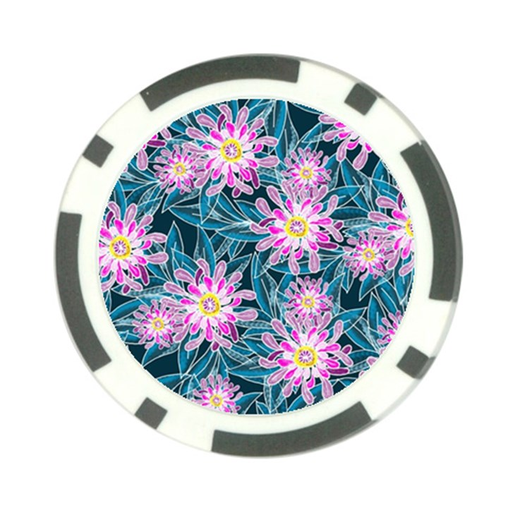 Whimsical Garden Poker Chip Card Guards
