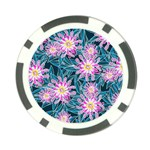 Whimsical Garden Poker Chip Card Guards Back