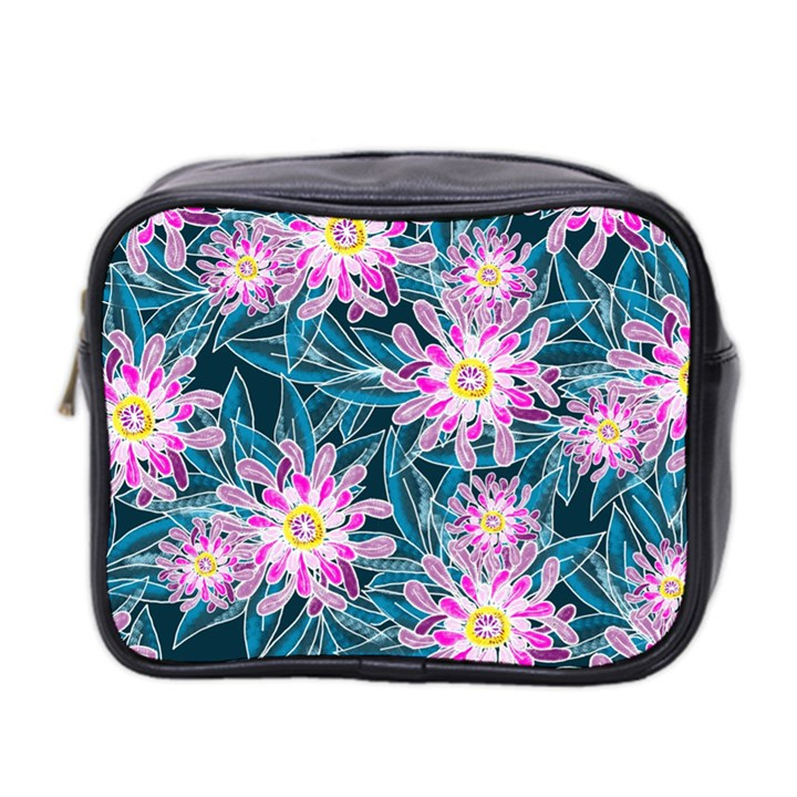 Whimsical Garden Mini Toiletries Bag 2-Side