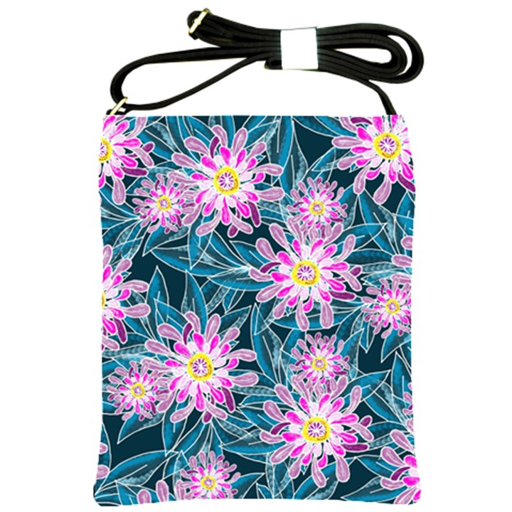 Whimsical Garden Shoulder Sling Bags