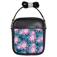 Whimsical Garden Girls Sling Bags